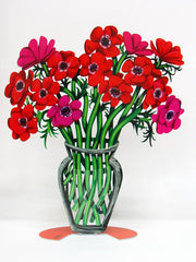 David Gerstein | Poppies Vase - Large