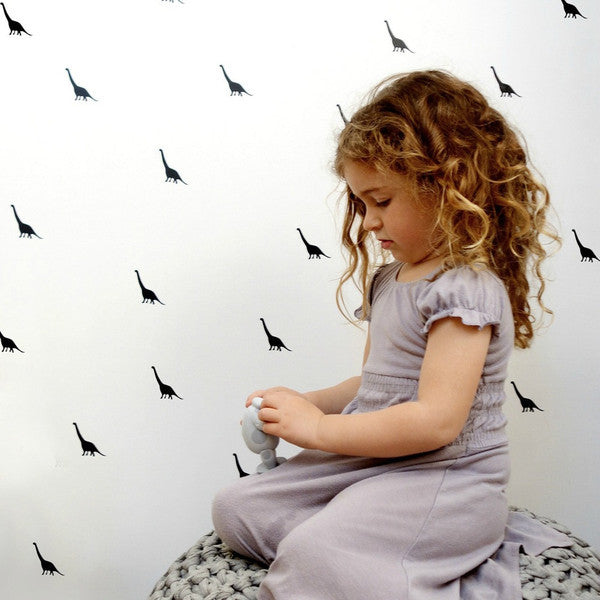 Tayo Studio | Black Dinosaur Wall Stickers