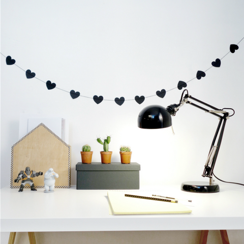 Tayo Studio | Black Heart Garland