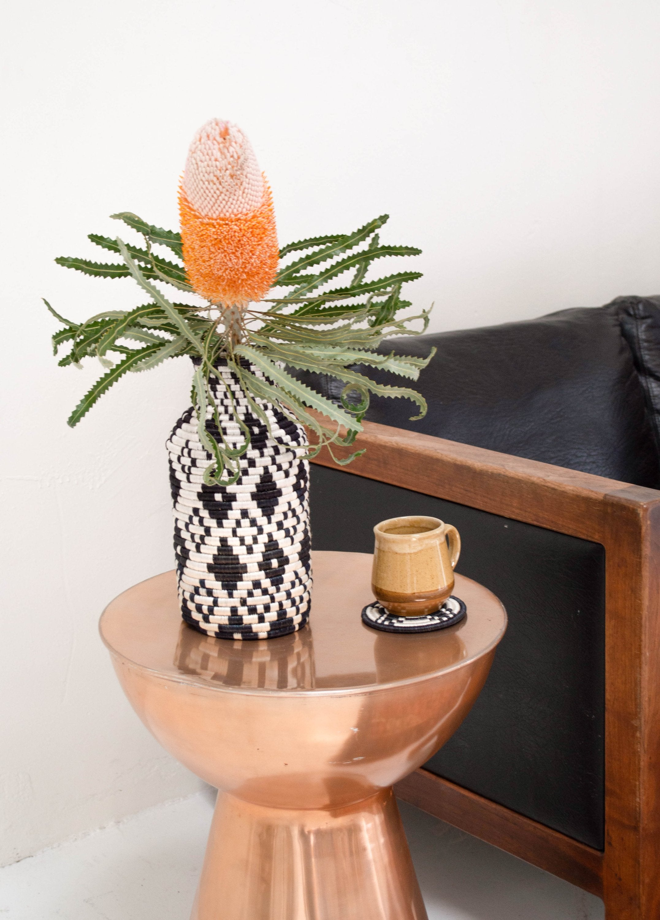 Black Seagrass Tall Bud Vase