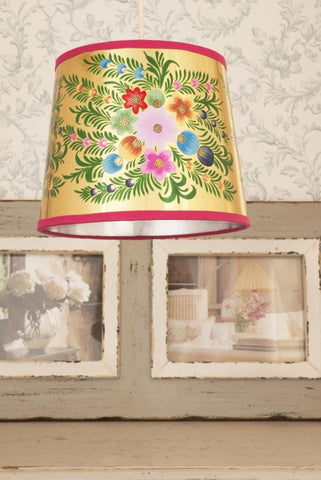 Lisbeth Dahl | Gold Floral Lampshade