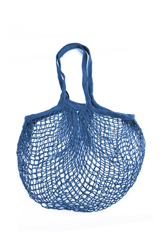 Cotton Mesh Candy Blue Eco Bag | Cool Eco Bags