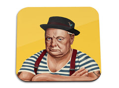 Hipstory | Winston Churchill Wooden Coaster