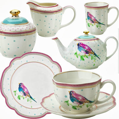 Lisbeth Dahl | Set of 2 Birdie Porcelain Coffee Mugs