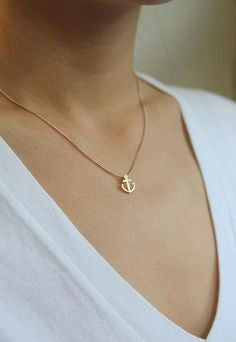 Dogeared | Gold Anchor Friendship Necklace