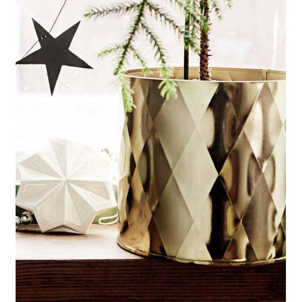 Madame Stoltz | Geometric Gold Pot Holder