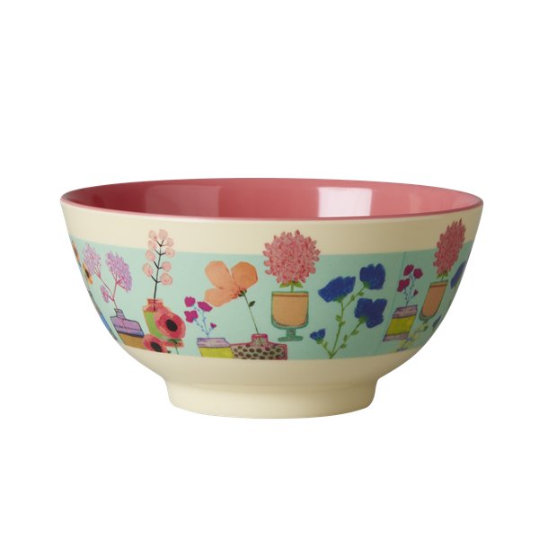 Rice DK Two-Tone Melamine Flower Display Print