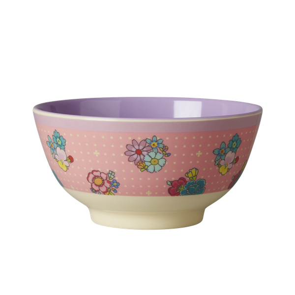Rice DK Two-Tone Melamine Flower Stitch Print