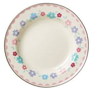 Rice DK Enamel Side Plate With Flower Print