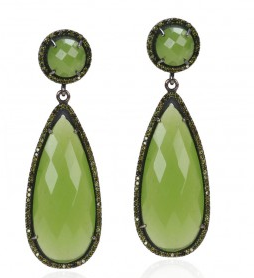 Susan Hanover Green Double Drop Earrings