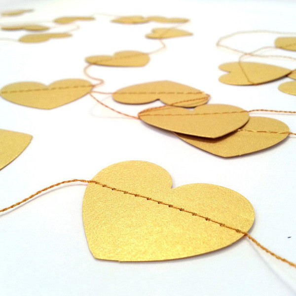 Tayo Studio | Gold Heart Garland