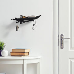 Artori Design | Heroshelf - Superhero Mail and Key Holder Wall Mount – Metal Shelf with Hooks