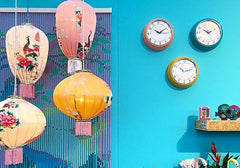 Kitsch Kitchen | Blue Cocina Wall Clock