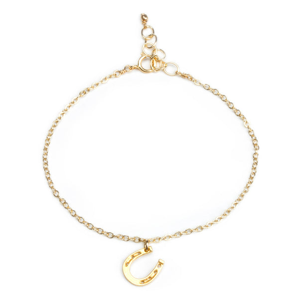 Dogeared | Lucky Horseshoe Gold Necklace