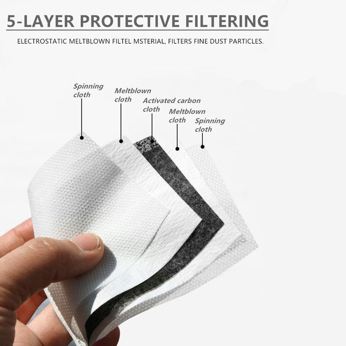 Just Leaves Print Washable Mouth Mask + 2 Protective PM 2.5 Filters