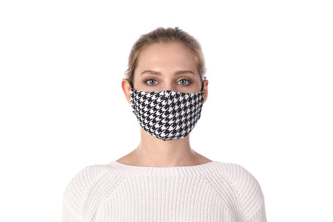 Suit Up Print Washable Mouth Mask + 2 Protective PM 2.5 Filters