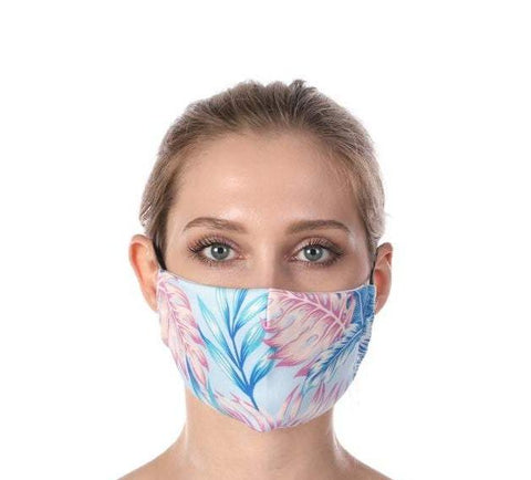 Tropical Summer Night Print Washable Mouth Mask + 2 Protective PM 2.5 Filters