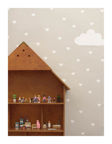 Wall Decal 90 White Heart Stickers | Tayo Studio
