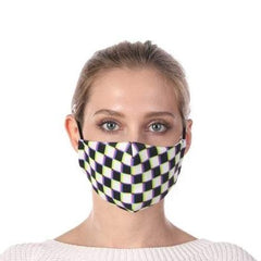 Checkered Print Washable Mouth Mask + 2 Protective PM 2.5 Filters