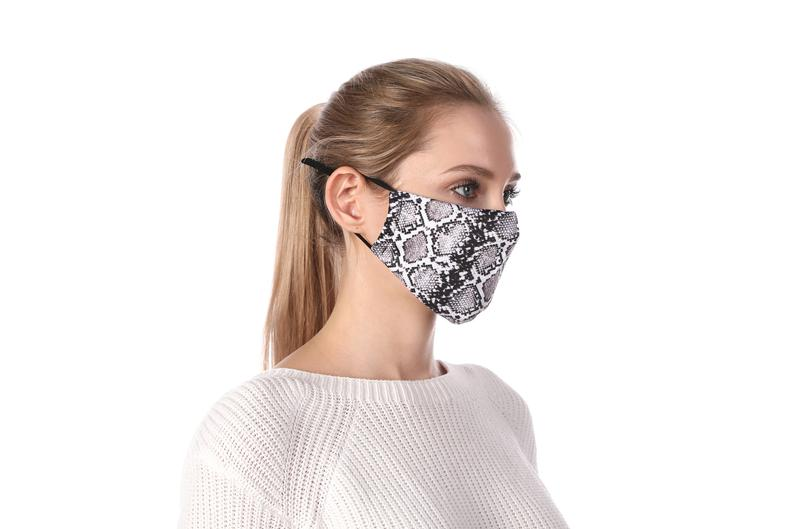 Snakeskin Print Washable Mouth Mask + 2 Protective PM2.5 Filters