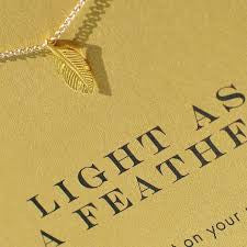 Dogeared | Light As A Feather Gold Necklace