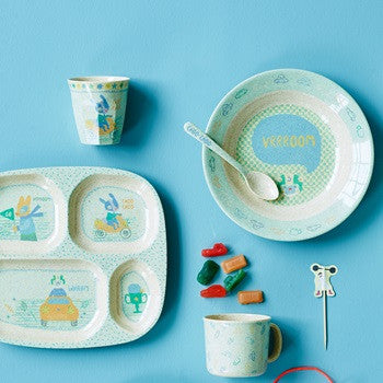 Rice Dk | Kids Bamboo Small Melamine Cup with Boys Race Print
