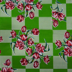 Kitsch Kitchen | Green Tulip Oilcloth