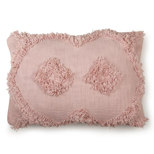 Shag Lumbar Pillow, Blush