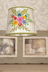Lisbeth Dahl | Silver Floral Lampshade