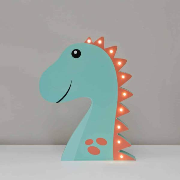 Smiling Faces | Wooden Light Up Dinosaur Lamp