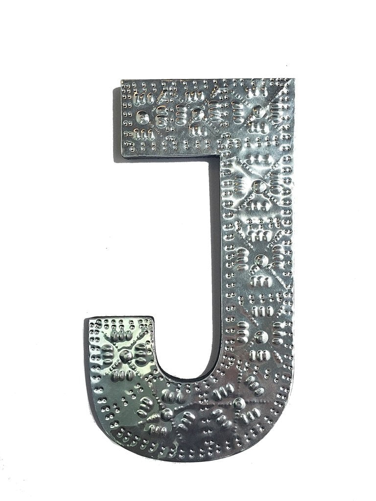 Leaf | Embossed Silver Alphabet Letters Wall Decor