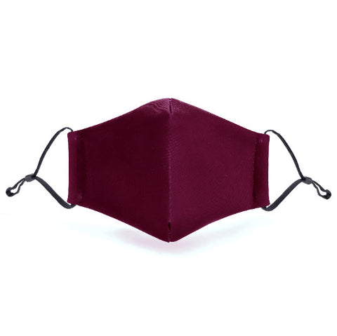 Burgundy Print Washable Mouth Mask + 2 Protective PM 2.5 Filters