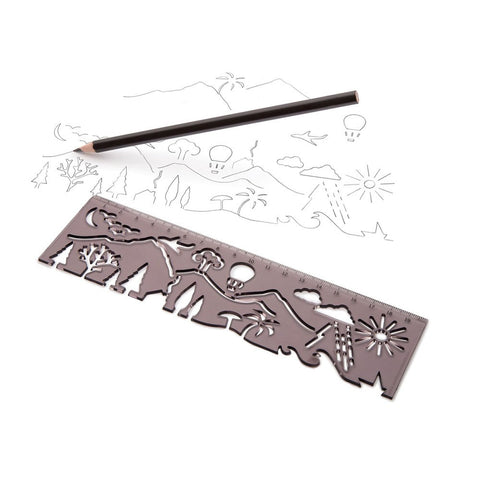 Monkey Business | Landscape- Stencil & Ruler