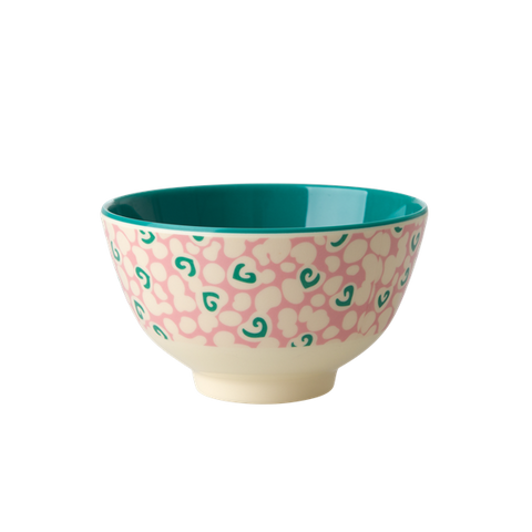 Rice DK | Two-Tone Melamine Bowl with Liquid Spots Print