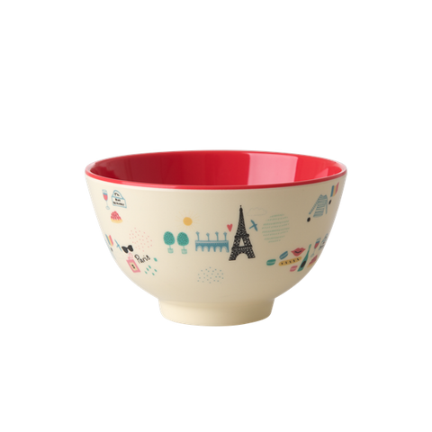 Rice DK | Two-Tone Melamine Bowl with Paris Print