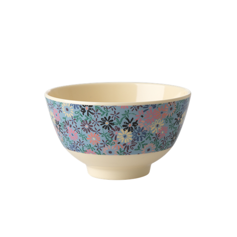 Rice DK | Two-Tone Melamine Bowl with Small Flower Print