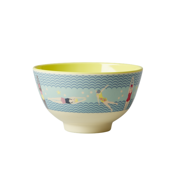 Rice DK Swimster Print Two Tone Small Melamine Bowl