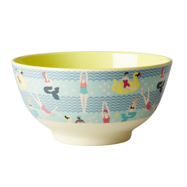 Rice DK Swimster Print Two Tone Large Melamine Bowl
