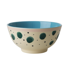 Rice DK | Two-Tone Melamine Bowl with Watercolor Splash Print