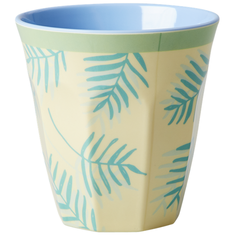 Rice DK Palm Leaves Print Two Tone Melamine Cup