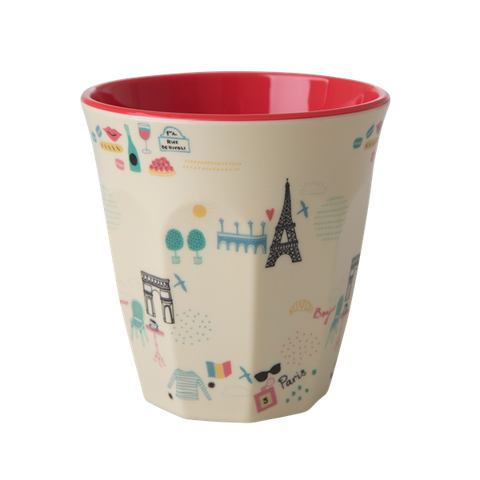 Rice DK | Melamine Cup Two Tone with Paris Print