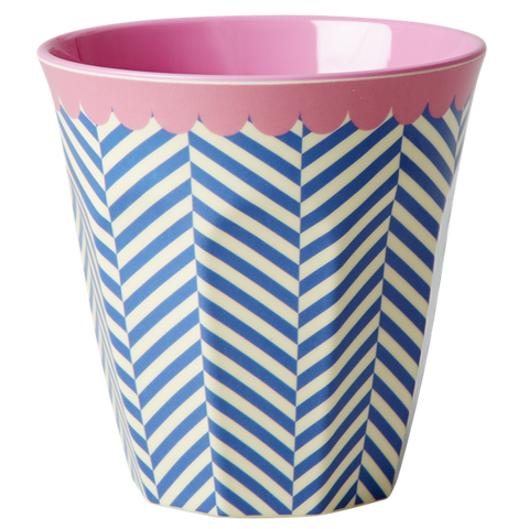 Rice DK Sailor Stripe Print Two Tone Melamine Cup