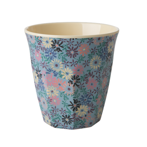 Rice DK | Melamine Cup Two Tone with Small Flower Print