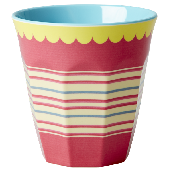 Rice DK Striped Print Two Tone Melamine Cup