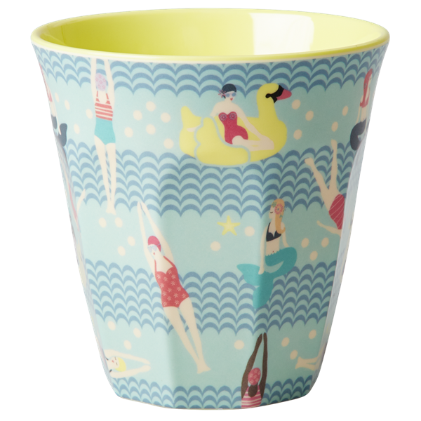 Rice DK Swimster Print Two Tone Melamine Cup