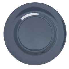 Rice DK Dark Grey Melamine Round Dinner Plate