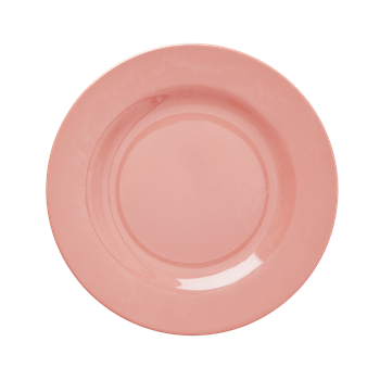 Rice DK True Coral Melamine Round Dinner/ Side Plates