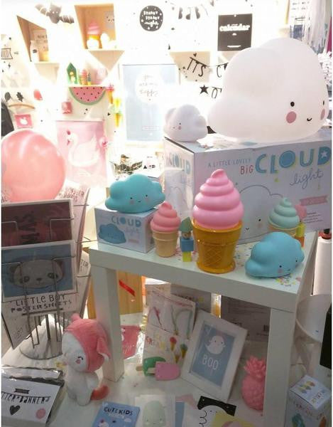 A Little Lovely Company | Mini Blue Cloud Light