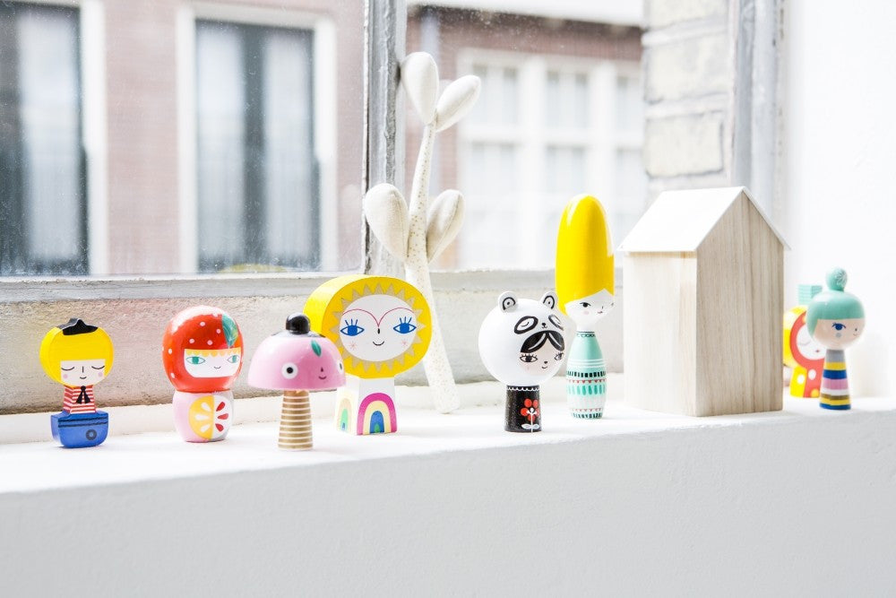 Psi | Mr Sun & Friends Wooden Dolls