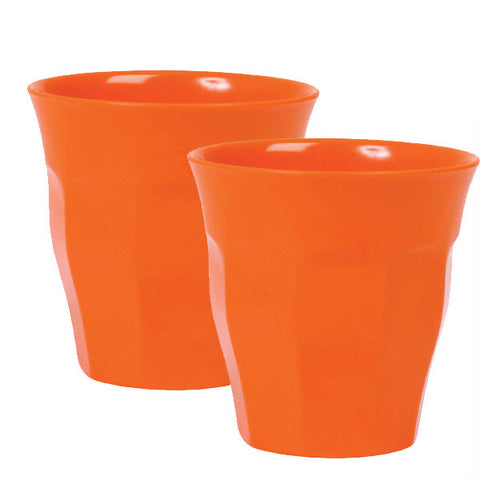 Rice DK Dark Orange Melamine Cups | Set of 2